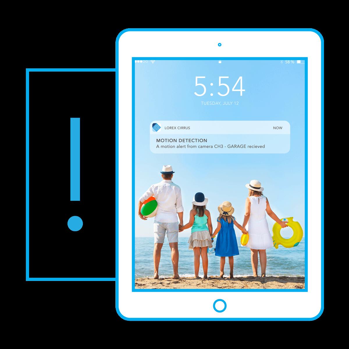 Cirrus mobile app motion alerts