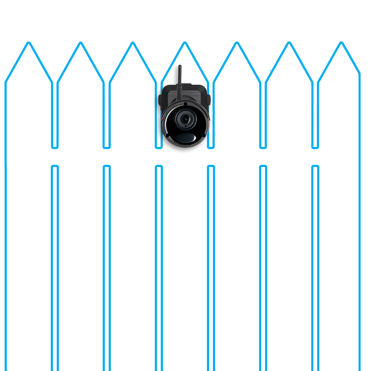 wire-free security camera wireless range