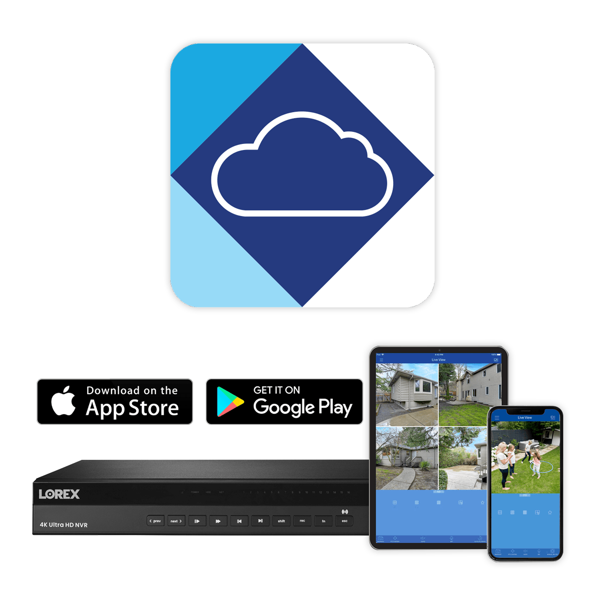 remote monitoring NR900 Lorex Cloud App
