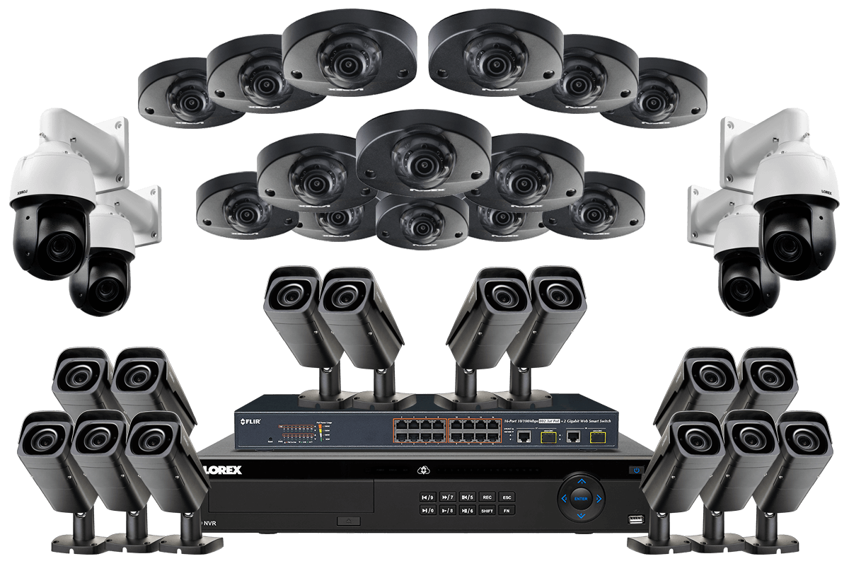 32 Channel Nvr Security System With 14 2k Audio 14 4k