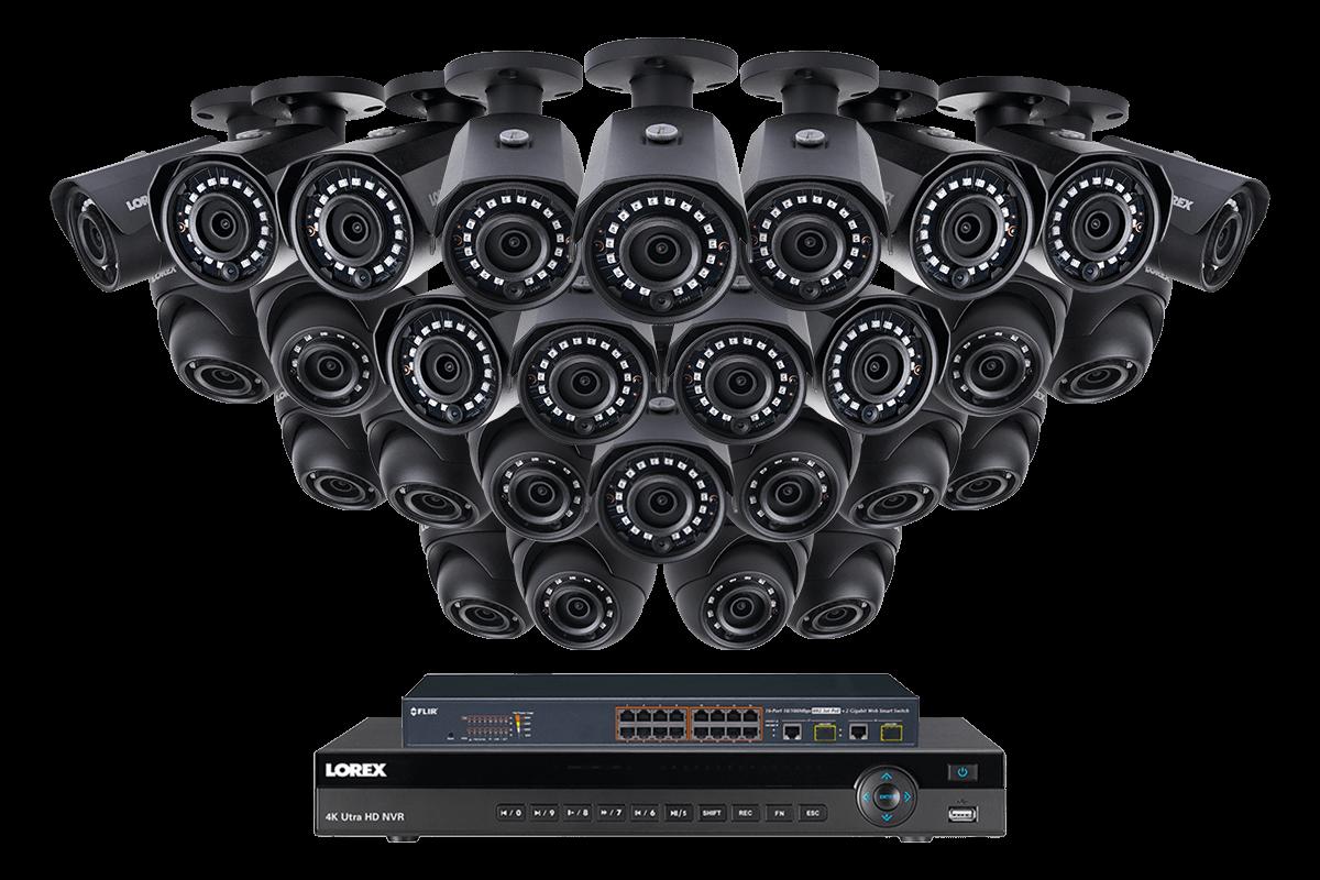 2k Ip Security Camera System With 28 Outdoor Cameras Lorex