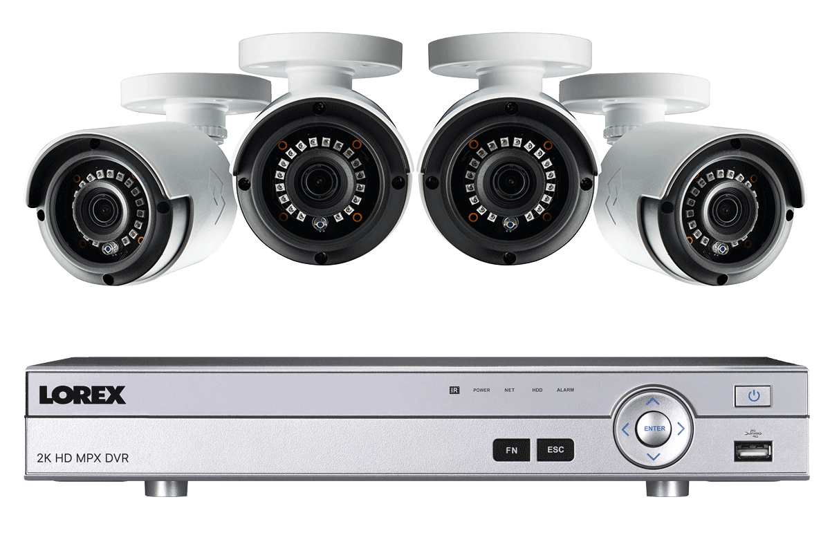 2k Super Hd 4 Channel Security System With 4 Super Hd 2k