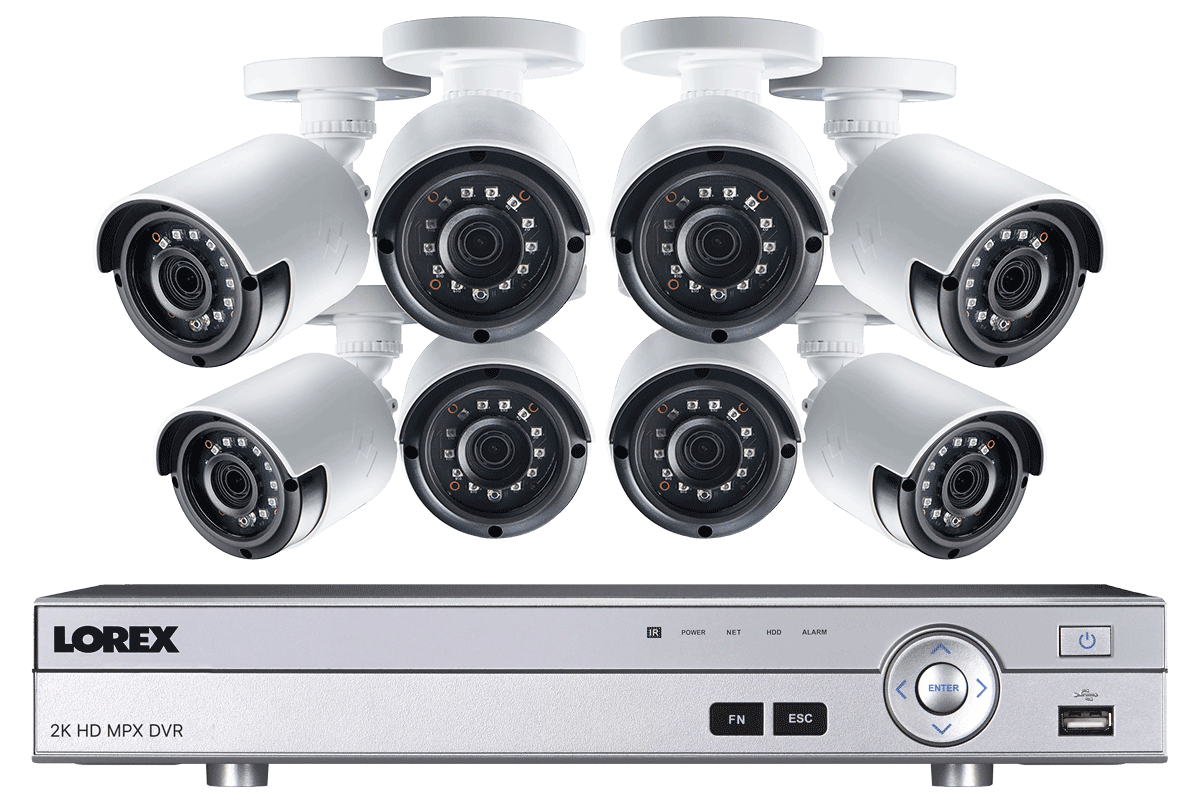 2k Super Hd 8 Channel Security System With 8 Super Hd 2k